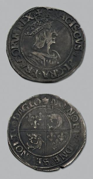 FRANÇOIS 1er (1515-1547) Teston du Dauphiné,...