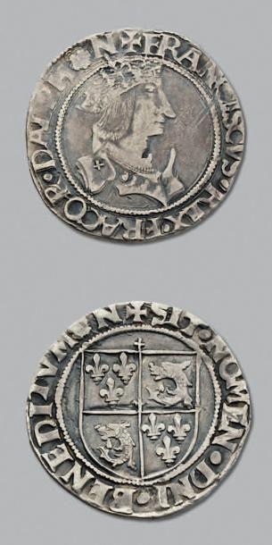 FRANÇOIS 1er (1515-1547) Teston du Dauphiné, 4e type. Grenoble. D. 826A. TTB.