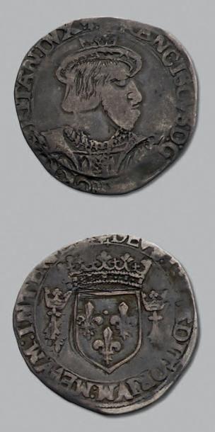 FRANÇOIS 1er (1515-1547) Teston de Bretagne,...