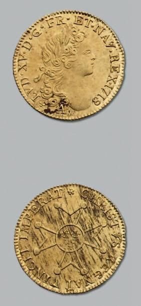 LOUIS XV (1715-1774) Louis d'or à la croix...