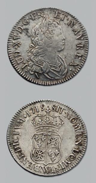 LOUIS XV (1715-1774) Demi écu de Navarre....