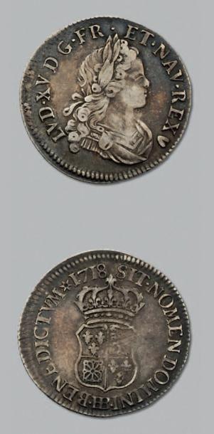 LOUIS XV (1715-1774) Quart d'écu de Navarre....