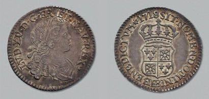 LOUIS XV (1715-1774) Dixième d'écu Navarre....