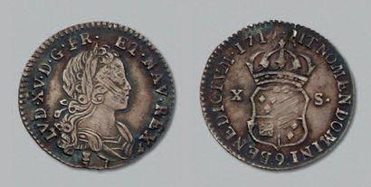 LOUIS XV (1715-1774) Dix sols de Navarre....