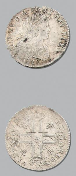 LOUIS XV (1715-1774) Petit Louis d'argent....