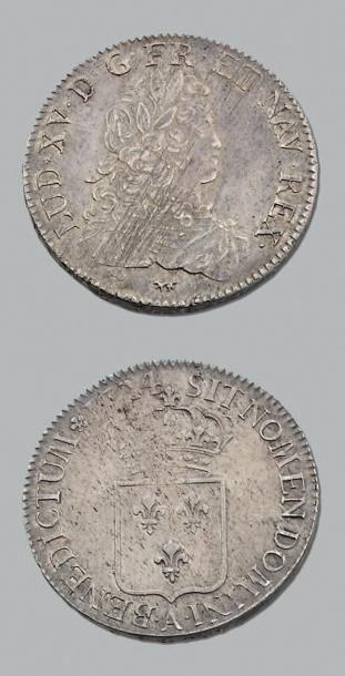 LOUIS XV (1715-1774) Écu de France. 1724....