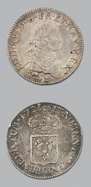 LOUIS XV (1715-1774) Demi écu de France....