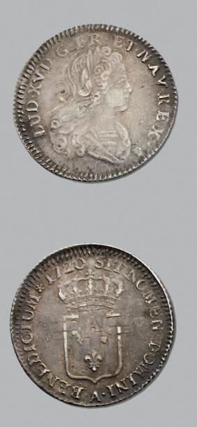 LOUIS XV (1715-1774) Tiers d'écu de France....