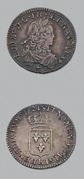 LOUIS XV (1715-1774) Sixième d'écu de France....