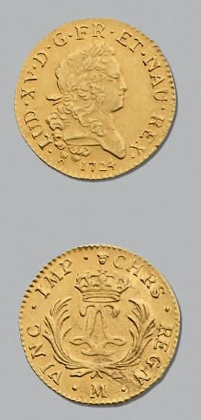 LOUIS XV (1715-1774) Louis d'or mirliton...