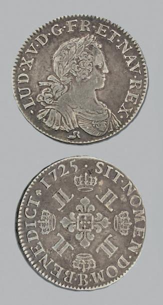LOUIS XV (1715-1774) Demi écu aux huit L....