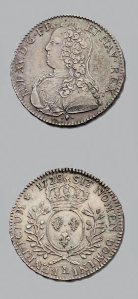 LOUIS XV (1715-1774) Demi écu aux branches...