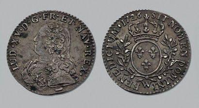 LOUIS XV (1715-1774) Dixième d'écu aux branches...