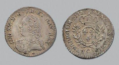 LOUIS XV (1715-1774) Vingtième d'écu aux...