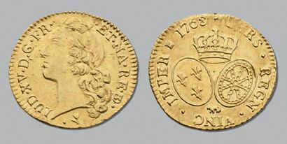 LOUIS XV (1715-1774) Louis d'or de Béarn...
