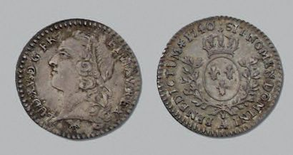 LOUIS XV (1715-1774) Vingtième d'écu au bandeau....