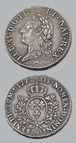 LOUIS XV (1715-1774) Écu à la vieille tête....