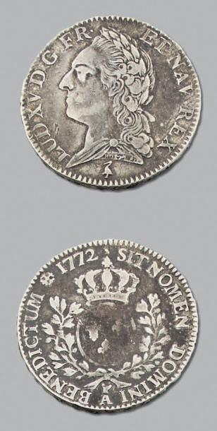 LOUIS XV (1715-1774) Demi écu à la vieille...