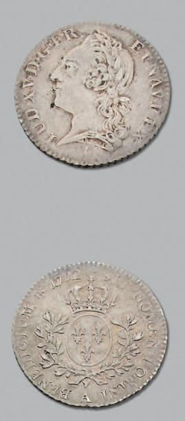 LOUIS XV (1715-1774) Cinquième d'écu à la...