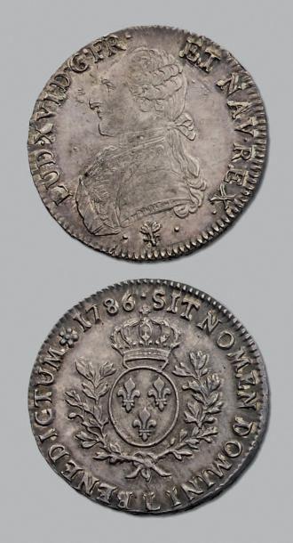 LOUIS XVI (1774-1793) Écu aux branches d'olivier....