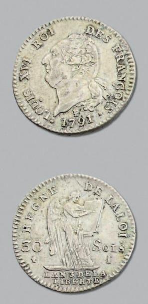 PÉRIODE CONSTITUTIONNELLE 30 Sols. 1791....