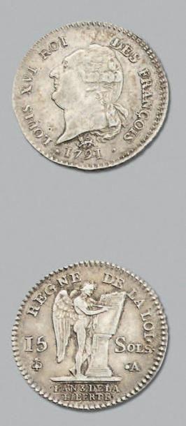 PÉRIODE CONSTITUTIONNELLE 15 Sols. 1791....