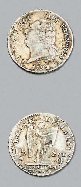 PÉRIODE CONSTITUTIONNELLE 15 Sols. 1792....