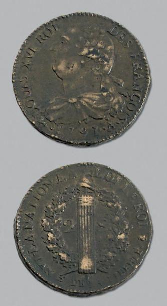 PÉRIODE CONSTITUTIONNELLE 2 Sols. 1791. Paris....
