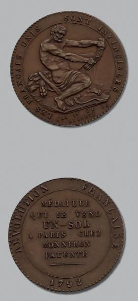 CONVENTION (1792-1795) Monneron de 1 sol...