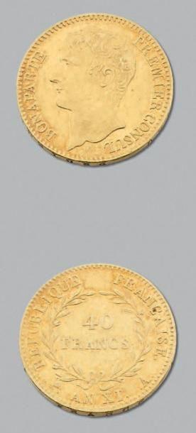 CONSULAT (1799-1804) 40 Francs or. An XI....