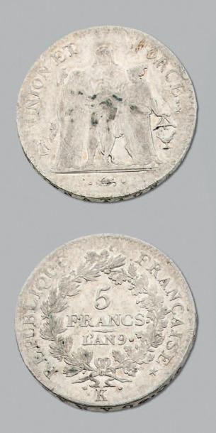 CONSULAT (1799-1804) 5 Francs type