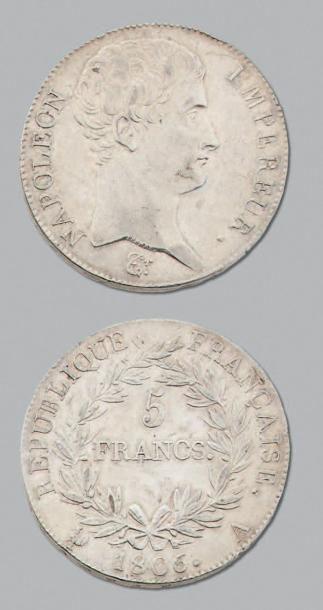PREMIER EMPIRE (1804-1814) 5 Francs. 1806....