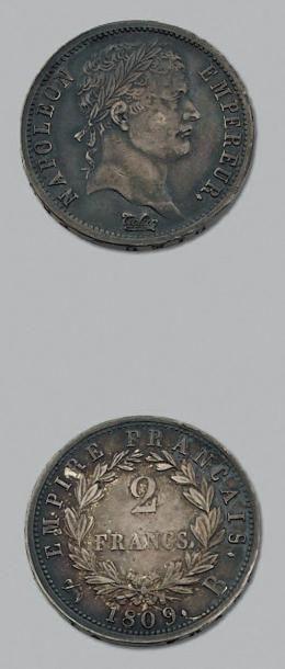PREMIER EMPIRE (1804-1814) 2 Francs. 1809....