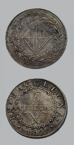 OCCUPATION DE BARCELONE 5 Pesetas. 1812....