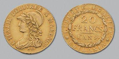GAULE SUBALPINE (1800-1802) 20 Francs or...