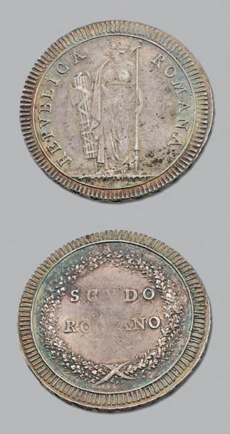 RÉPUBLIQUE de ROME (1798-1799) Scudo. n.d....