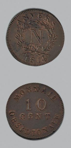 SIÈGE d'ANVERS (Belgique) 10 Centimes, 2e...