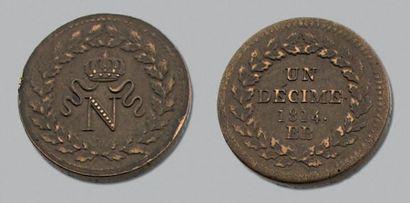 SIÈGE de STRASBOURG Décime. 1814. L.M.N....
