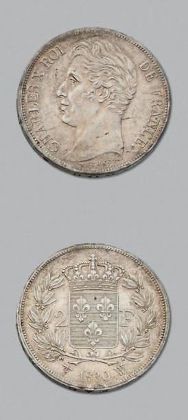 CHARLES X (1824-1830) 2 Francs. 1830. Lille....