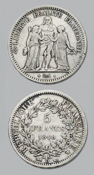 DEUXIÈME RÉPUBLIQUE (1848-1852) 5 Francs,...