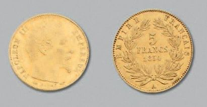 SECOND EMPIRE (1852-1870) 5 Francs or, tête...