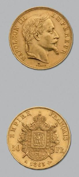 SECOND EMPIRE (1852-1870) 50 Francs or, tête...