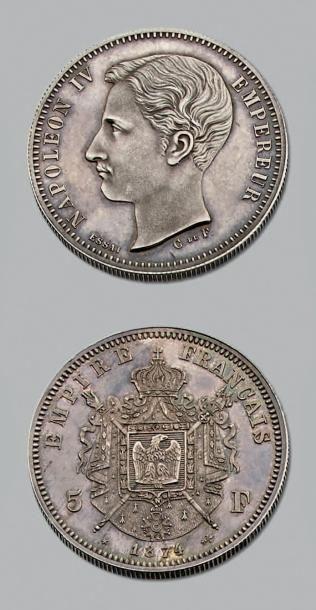 NAPOLÉON IV (Empereur) (1856-1879) 5 Francs....