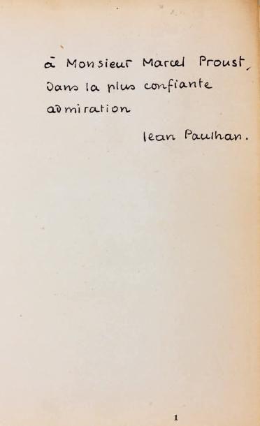 [PROUST]. - PAULHAN (Jean)