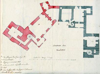 SEDAINE (Jean-Michel) Manuscrit autographe intitulé «Plans des fermes détaillez par...