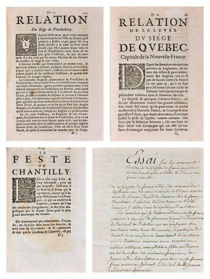 GAZETTE [DE FRANCE]. 1632-1785. 130 années...