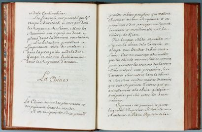 GÉOGRAPHIE. - Manuscrit intitulé «Traité...