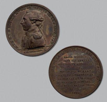 Lafayette: 4 Médailles en bronze dont le...