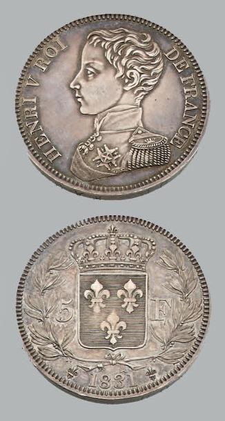 HENRI V (1820-1883) 5 Francs. 1831. Argent....