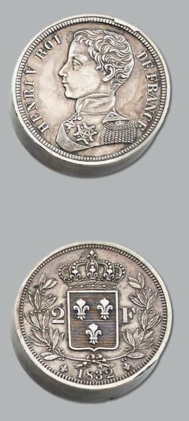 HENRI V (1820-1883) 2 Francs. 1832. Argent....